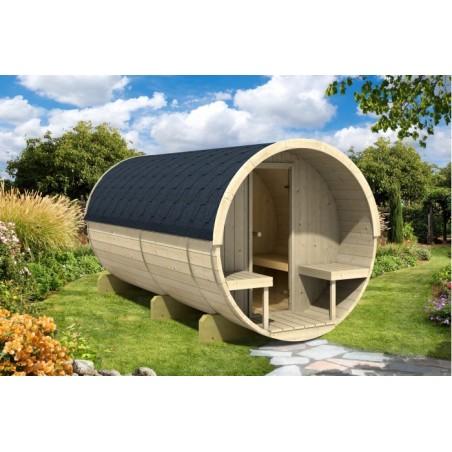 Barrel sauna 330 with terrace